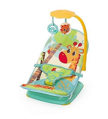Cadeira De Descanso Mus/Vib Com Reclinio Colorida Girafa