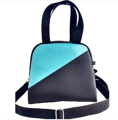 Bolsa Térmica Passeio M Two-Color Preto/Tiffany