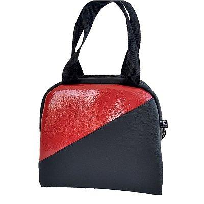 Bolsa Térmica Passeio M Two-Color Vermelho/Preto