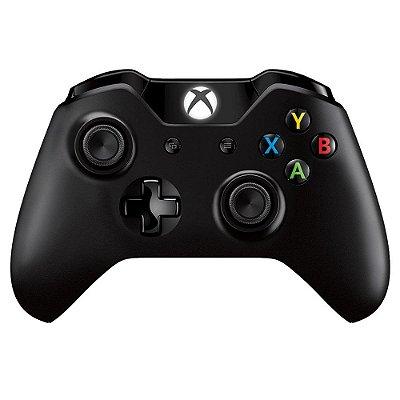 Controle Microsoft Xbox One Wireless Branco/Preto