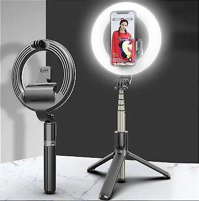 Ring Light Tripé E Pau De Selfie 17 Cm Bluetooth L07