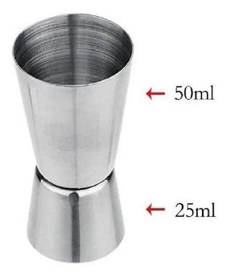 Copo Dosador Medidor Caipirinha Inox 30ml - 15ml 2 Peças