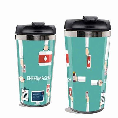 Copo Térmico Personalizado Enfermagem - Inox.