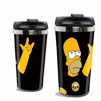 Copo Térmico Os Simpsons Preto.