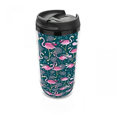 Copo térmico 250 ml Flamingos pequeno