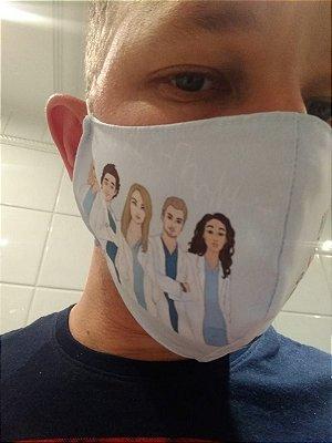 Máscara Grey's Anatomy Personagens