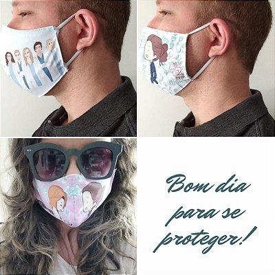 Kit com 03 Máscaras Grey's Anatomy Personagens