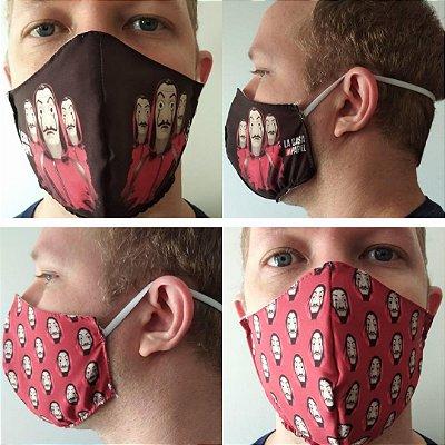 Kit com 02 máscaras La casa de papel