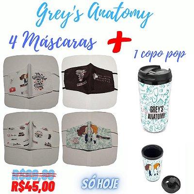 Copo Termico Pop Grey's Anatomy + Máscara