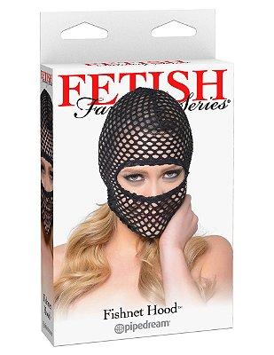 Fetish Fishnet Hood - Capuz Renda Arrastão Com Aberturas Nos Olhos