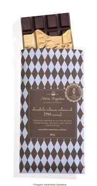Barra de chocolate intenso artesanal (75% cacau)