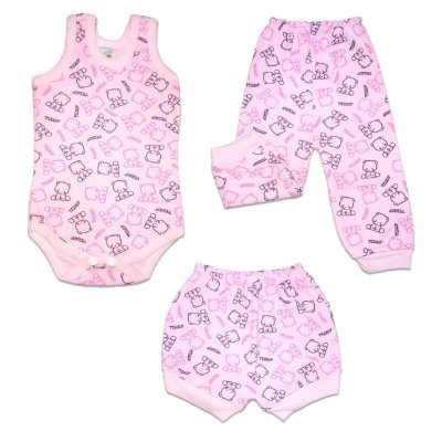 KIT BODY REGATA CANELADO - FEMININO - URSO