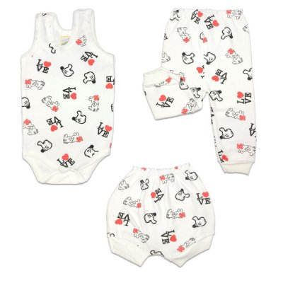 KIT BODY REGATA SUEDINE - FEMININO - MINNIE