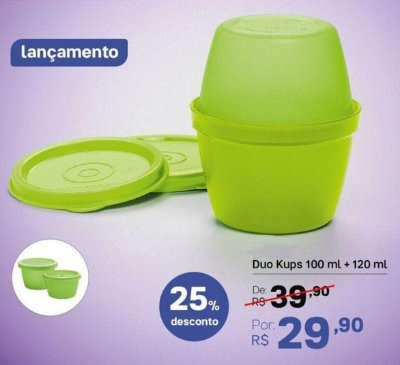 DUO KUPS 100ML + 120ML TUPPERWARE