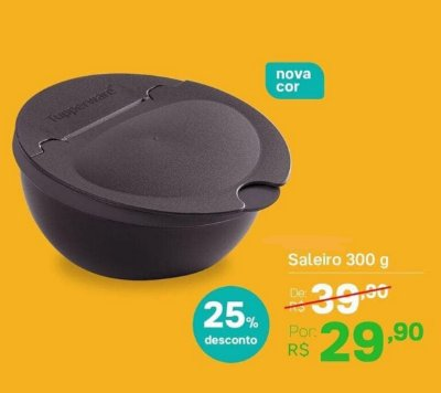SALEIRO 300G PRETO TUPPERWARE