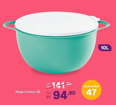 MEGA CRIATIVA 10L VERDE MINT TUPPERWARE