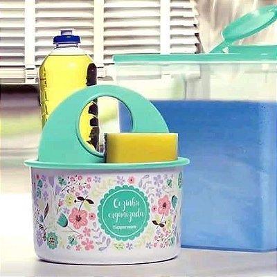 TUPPER CLEAN PORTA DETERGENTE/ESPONJA VERDE TUPPERWARE