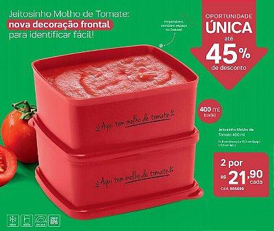 2 Jeitosinhos Molho de Tomate 400 ml - Tupperware