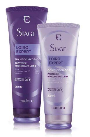Kit Siàge Loiro Expert Shampoo + Condicionador - Eudora