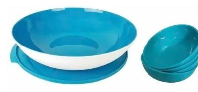 KIT 1 TIGELA ALLEGRA 1.5L + 4 TIGELAS ALLEGRA 250ML IMPORTADO - TUPPERWARE