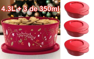 KIT TIGELAS ILÚMINA NATAL 2020 4,3L + 350ML- TUPPERWARE