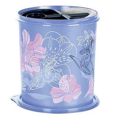 Caixa de Café e Filtro Florida Lírios Lilás - Tupperware