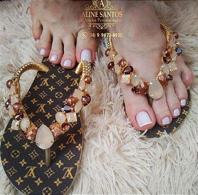 """sandália Holograma """"Louis Vuitton"""""""