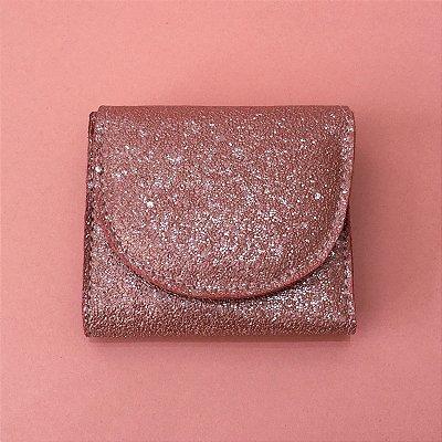 Carteira Isadora Mini - Glitter Rosa