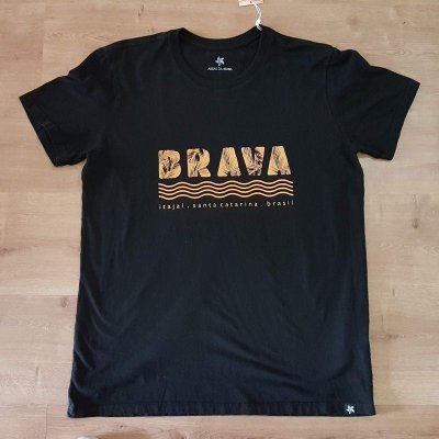 Camiseta Brava - Serie Local - Santa Catarina - Preta