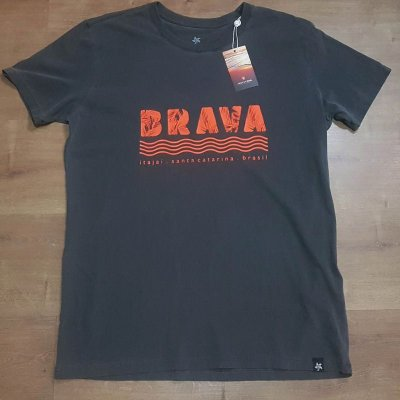 Camiseta Estonada Brava - Serie Local - Santa Catarina - Cinza
