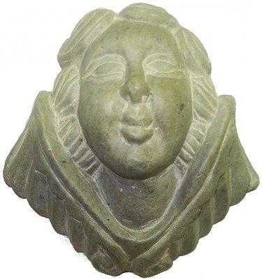 Anjo Parede de Pedra Sabão (14x11cm)