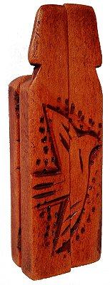 Oratório 3 Santos Madeira com Dobradiças  (São José, Nossa Senhora e Jesus Cristo) 21cm
