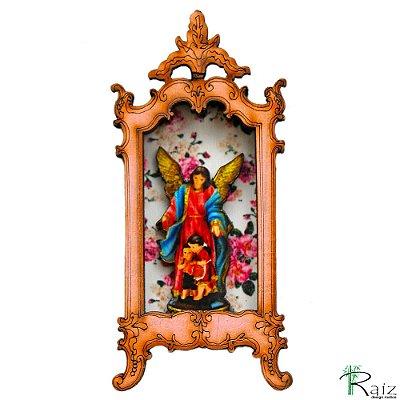 Oratório Ímã de Geladeira Anjo da Guarda Rosê