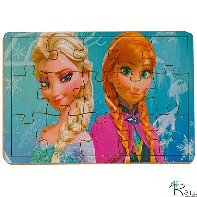 Brinquedo Educativo em MDF Quebra-Cabeça Frozen