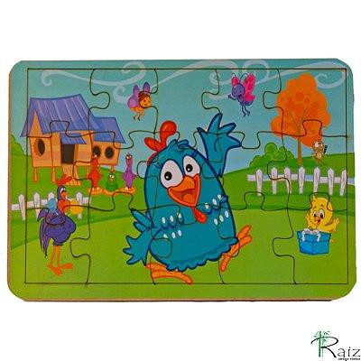 Brinquedo Educativo em MDF Quebra-Cabeça Galinha Pintadinha