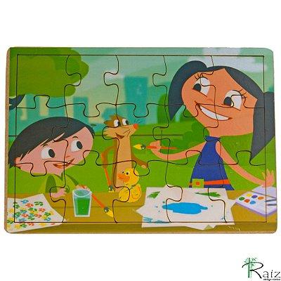 Brinquedo Educativo em MDF Quebra-Cabeça O Show da Luna