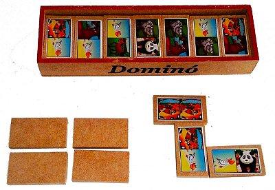 Brinquedo Pedagógico Jogo de Dominó Madeira