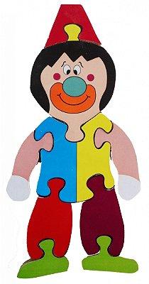 Brinquedo Pedagógico Quebra-Cabeça Palhaço (25x13)cm