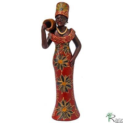 Boneca de Cerâmica com Jarro Artesanato Nacional Coleção Brasil