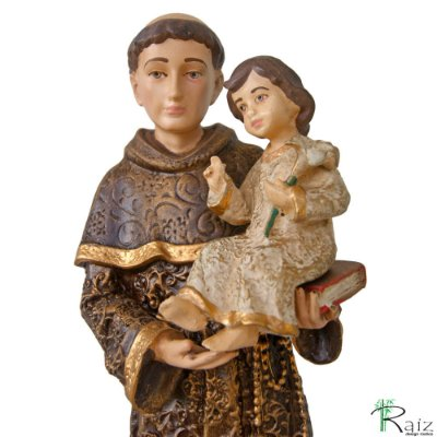 Escultura Santo Antônio Estilo Barroco em Resina