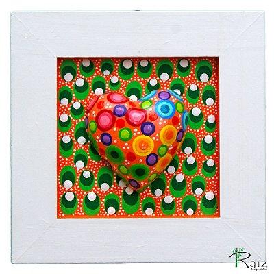 Quadro Decorativo Coração Pintado