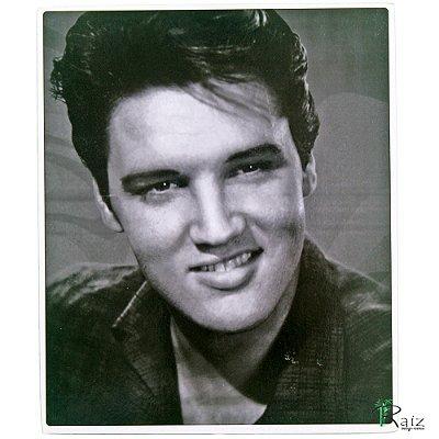 Quadro Elvis Vintage Estilo Placa de MDF Adesivada 19x23 cm