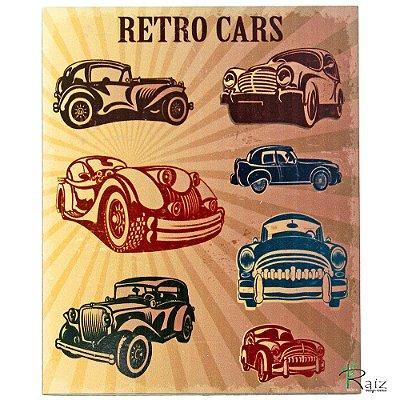 Placa Adesivada Decorativa Carro Retrô
