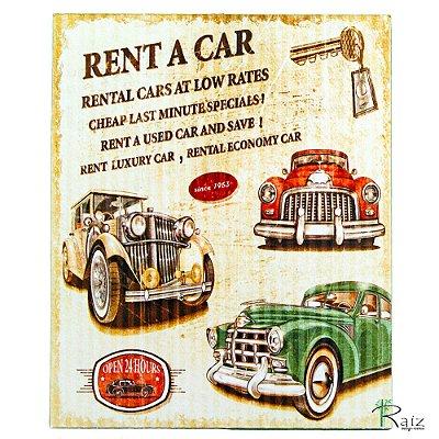 Placa Adesivada Decorativa Carros e Motos Retrô