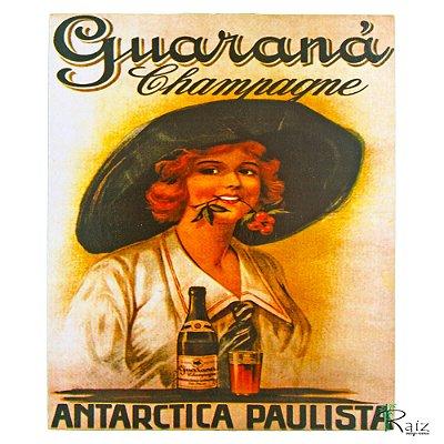 Placa Retrô Guaraná Linha Vintage (23x19cm)