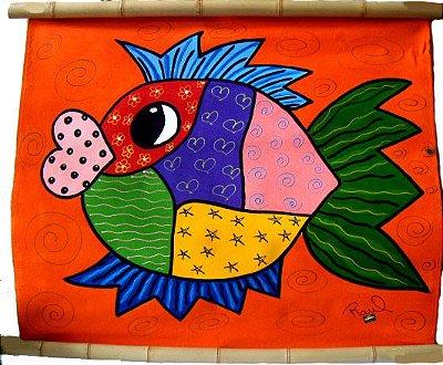 Painel De Peixe Color