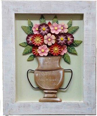 Quadro de Flores Degradê Vermelho Coleção Luxo 55x45 cm