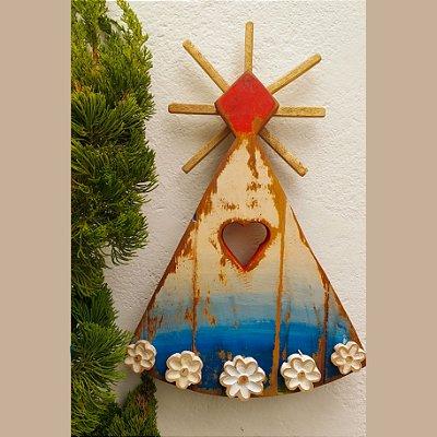 Quadro Nossa Senhora Aparecida Madeira de Demolição