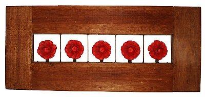 Quadro Rosas Vermelhas Vazado (71x30cm)