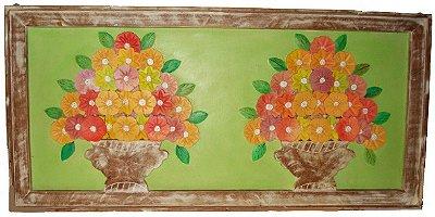 Quadro Vaso de Flores Duplo Coleção Primavera